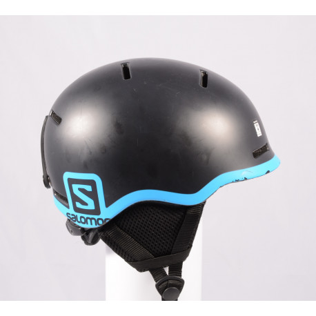 ski/snowboard helmet SALOMON GROM BLACK 2020, Black/blue, adjustable ( TOP condition )
