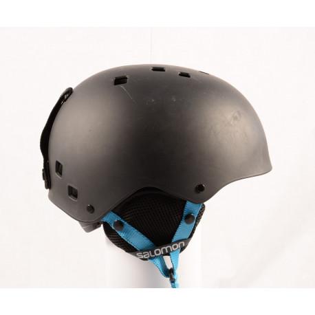 lyžiarska/snowboardová helma SALOMON JIB Black/blue, nastaviteľná