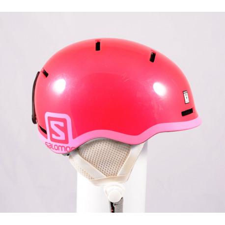skidhjälm/snowboardhjälm SALOMON GROM GLOSSY 2020, Pink, justerbar ( TOP-tillstånd )