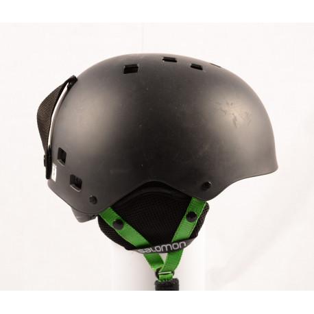 lyžiarska/snowboardová helma SALOMON JIB Black/green, nastaviteľná