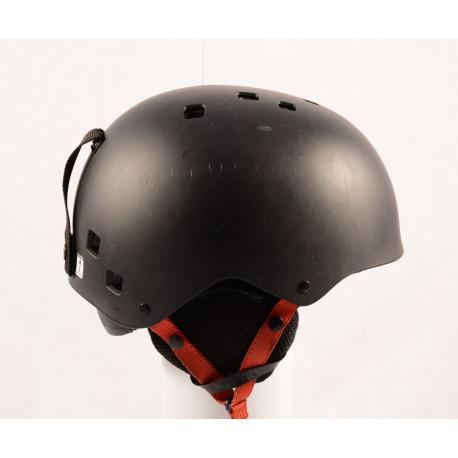 lyžiarska/snowboardová helma SALOMON JIB Black/red, nastaviteľná