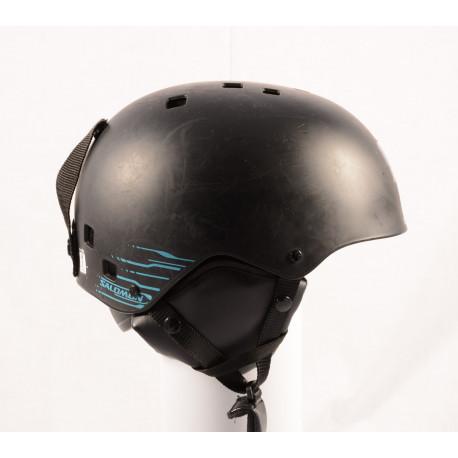 lyžařská/snowboardová helma SALOMON JIB Stickers, Black/blue, nastavitelná