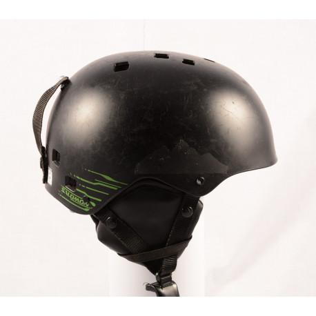lyžařská/snowboardová helma SALOMON JIB Stickers, Black/green, nastavitelná