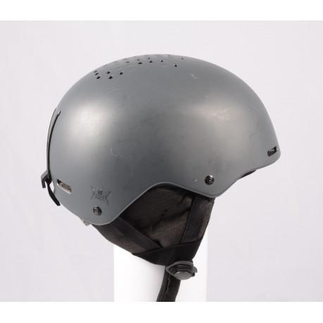 casco de esquí/snowboard SALOMON PACT GREY 2020, ajustable ( condición TOP )