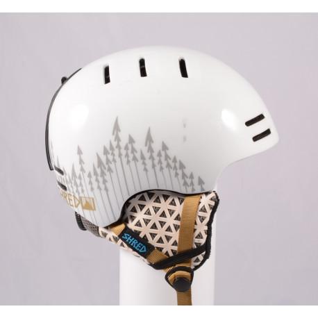 lyžiarska/snowboardová helma SHRED SLAM CAP 2019, White, Air ventilation, einstellbar ( TOP stav )