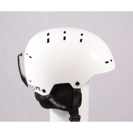 lyžiarska/snowboardová helma SHRED BUMPER WHITEOUT 2019, White, einstellbar ( TOP stav )