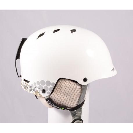 lyžiarska/snowboardová helma SHRED BRAIN 2020, White, einstellbar ( ako NOVÁ )