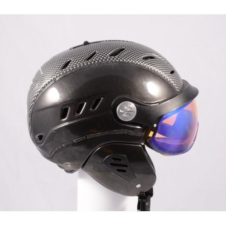 lyžiarska/snowboardová helma SLOKKER BAKKA GRENZWERTIG carbon 2019, POLARIZING visor, PHOTOCHROMATIC visor