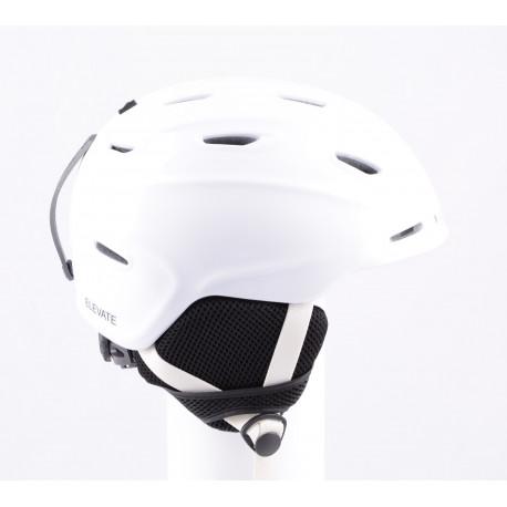 lyžařská/snowboardová helma SMITH ELEVATE white, air vent, nastavitelná ( TOP stav )