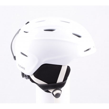 lyžiarska/snowboardová helma SMITH ELEVATE white, nastaviteľná, air vent ( TOP stav )