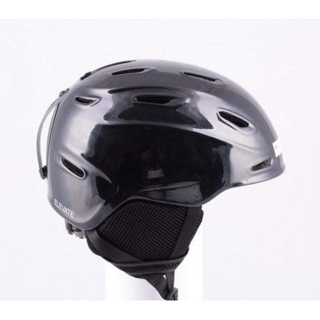 lyžiarska/snowboardová helma SMITH ELEVATE black, nastaviteľná, air vent ( TOP stav )
