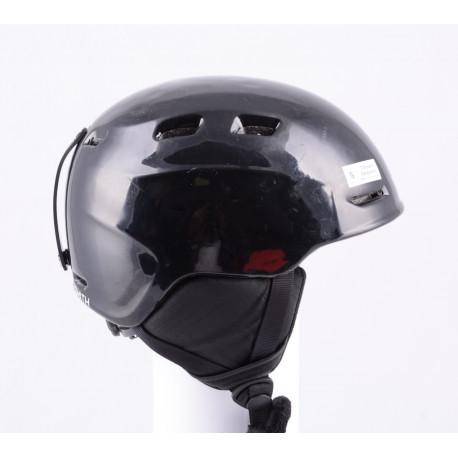 casco de esquí/snowboard SMITH ZOOM JR. black, air vent, ajustable ( condición TOP )