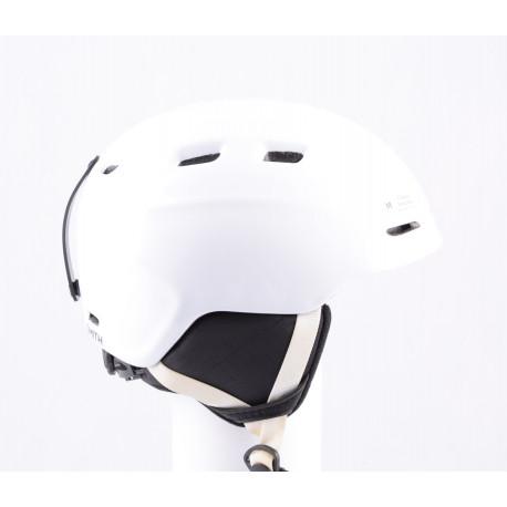 lyžařská/snowboardová helma SMITH ZOOM JR. white, air vent, nastavitelná ( jako NOVÁ )