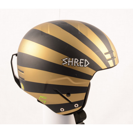 nová lyžiarska/snowboardová helma SHRED BASHER NOSHOCK helmet 2018, Black/gold, FIS norm ( NOVÁ )