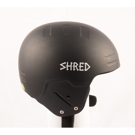 nová lyžiarska/snowboardová helma SHRED BASHER NOSHOCK helmet 2018, Black, FIS norm ( NOVÁ )