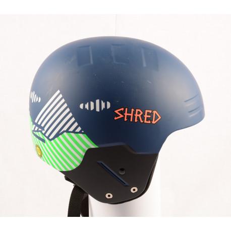 nová lyžiarska/snowboardová helma SHRED BASHER NOSHOCK, Blue/green, FIS norm ( NOVÁ )