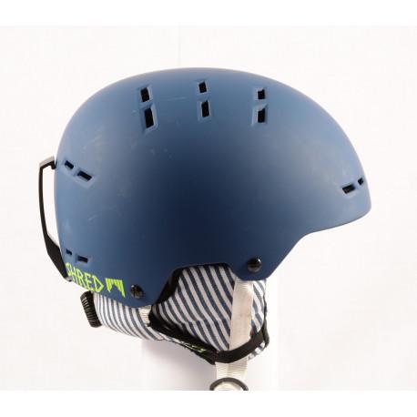 ski/snowboard helmet SHRED BUMPER NOSHOCK WARM PAJAMA navy blue, adjustable ( NEW )