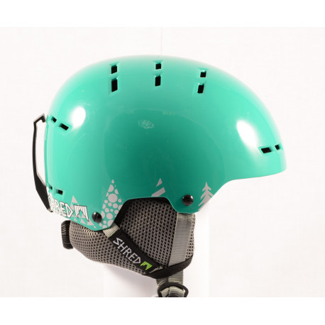 lyžařská/snowboardová helma SHRED BUMPER NOSHOCK WARM TIMBER green, nastavitelná ( NOVÁ )