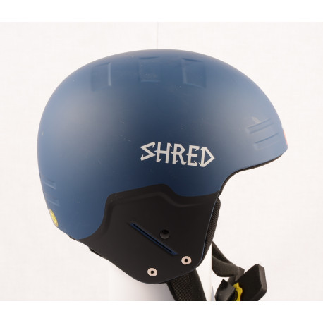 new ski/snowboard helmet SHRED FIS BASHER NOSHOCK GRAB, blue, FIS norm, ( NEW )