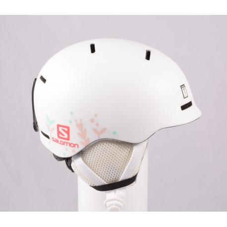 casque de ski/snowboard SALOMON GROM WHITE 2020, réglable ( comme NEUF )