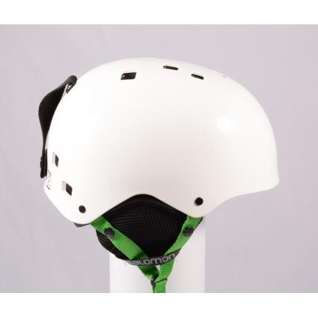 lyžiarska/snowboardová helma SALOMON JIB, WHITE/green, einstellbar ( TOP stav )