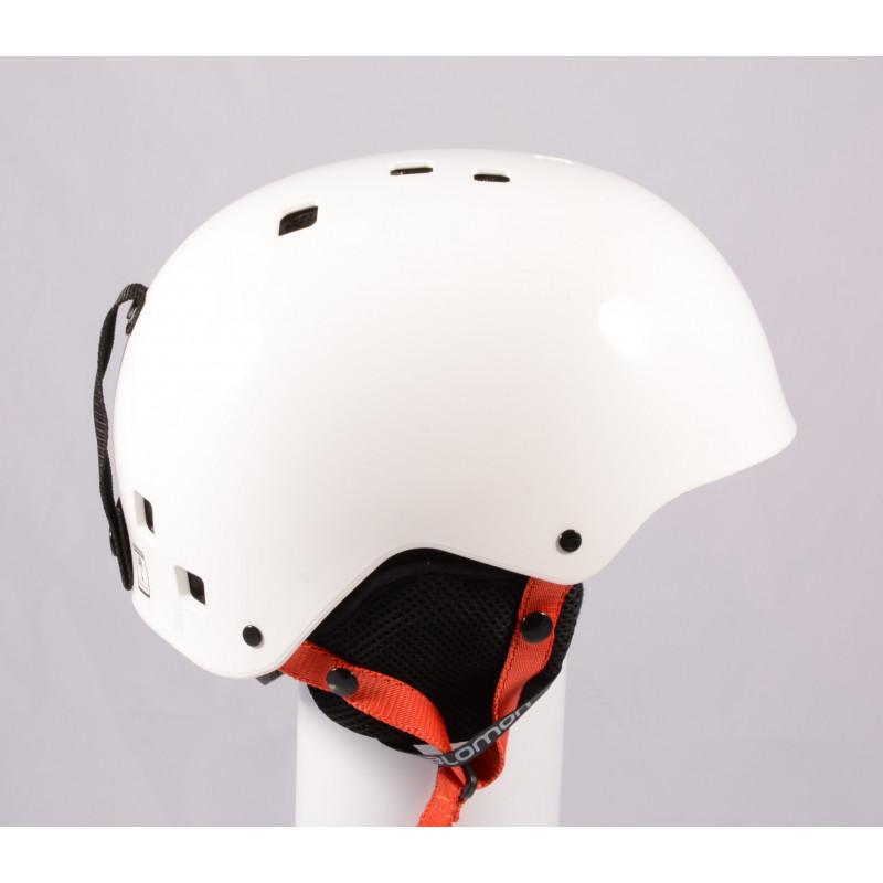 lyžiarska/snowboardová helma SALOMON JIB, WHITE/red, einstellbar ( TOP stav )