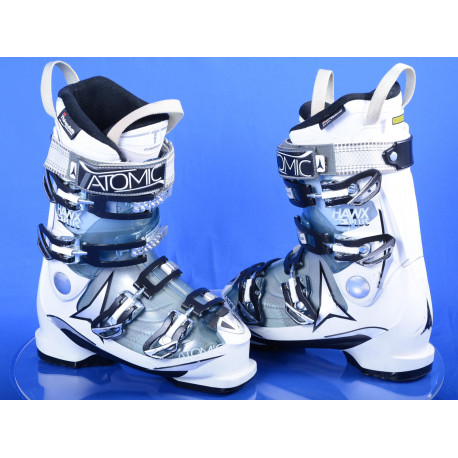 women's ski boots ATOMIC HAWX 2.0 plus 90, clima foam, memory fit, 3M thinsulate, white/transp ( TOP condition )