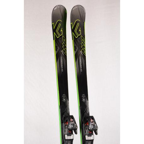 skidor K2 AMP CHARGER RX, Metal laminate, Speedrocker, woodcore, titan + Marker XCELL 12 ( TOP-tillstånd )