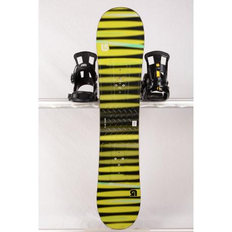 snowboard enfant/junior BURTON PROGRESSION LTR green/stripes, Woodcore, Rocker