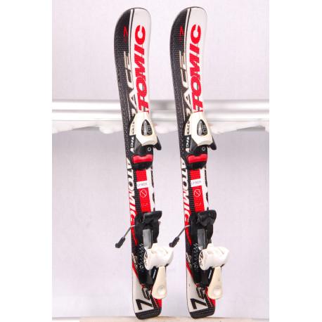 children's/junior skis ATOMIC RACE 7, WHITE/BLACK + Atomic evox 045