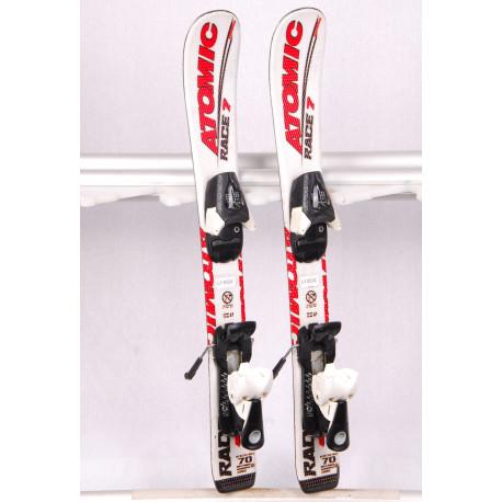 children's/junior skis ATOMIC RACE 7, aerospeed, WHITE + Atomic evox 045