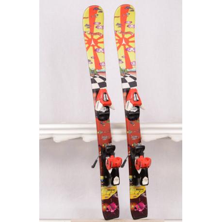 children's/junior skis ATOMIC RASCAL the SUN, yellow/brown + Atomic EVOX 045 ( TOP condition )