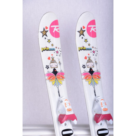 Kinder/Junior Ski ROSSIGNOL PRINCESS STAR white/pink + Rossignol KIDX 2.5 white ( TOP Zustand )