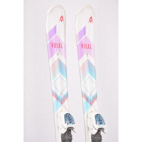 children's/junior skis VOLKL CHICA vMOTION 2019 + Marker 4.5 white ( TOP condition )