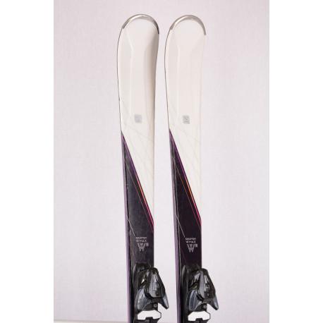skis femme SALOMON W-MAX 8, woodcore, carver rocker, pulse pad + Salomon Mercury 11 ( en PARFAIT état )