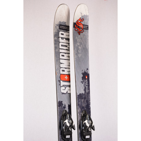 freeride skis STOCKLI STORMRIDER 107 SR-107, graphite, titanal, woodcore + Salomon Z10