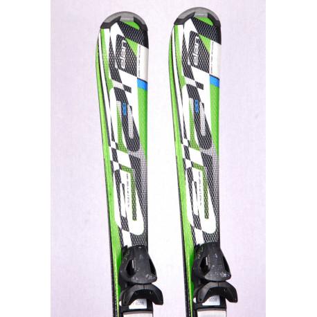 detské/juniorské lyže ELAN EXAR PRO white/green + Elan 4.5 ( TOP stav )