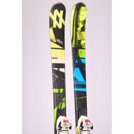 freestyle skis VOLKL ALLEY 8.1, TWINTIP, woodcore, FULL camber + Marker Squire 11
