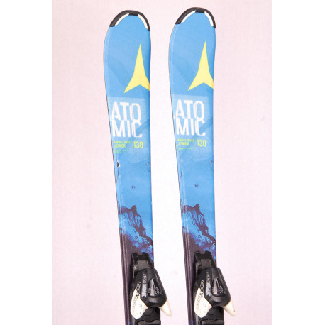 children's/junior skis ATOMIC VANTAGE SERIES junior, BLUE/yellow + Atomic EZYtrak 7