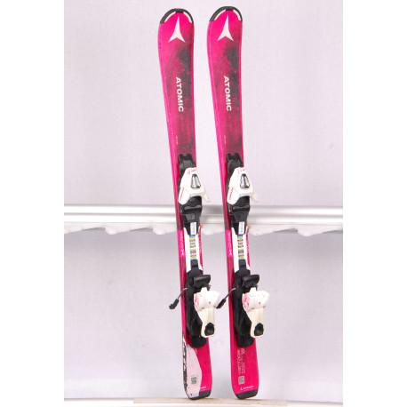 children's/junior skis ATOMIC VANTAGE GIRL II pink + Atomic C5