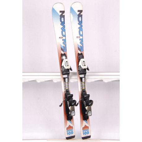 detské/juniorské lyže SALOMON ENDURO 800 jr. monoque, white/blue + Salomon CS 4.5