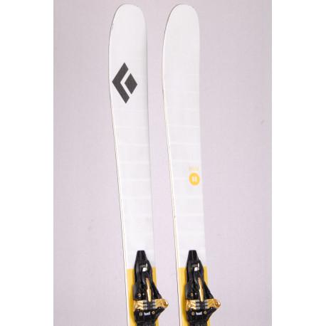 touring freeride skis BLACK DIAMOND HELIO 88, Woodcore, Carbon + Marker Kingpin 10 + touring skins ( TOP condition )