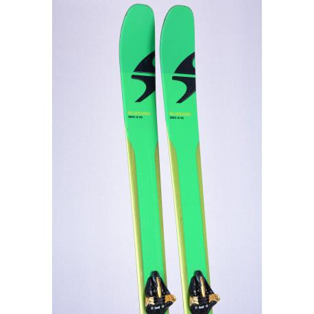 touring freeride skis BLIZZARD ZERO G 95 CARBON DRIVE + Marker Kingpin 13 + touring skins