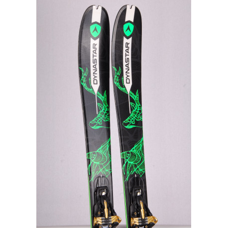 touring freeride skis DYNASTAR VERTICAL, woodcore + Marker Kingpin 10 + touring skins ( TOP condition)