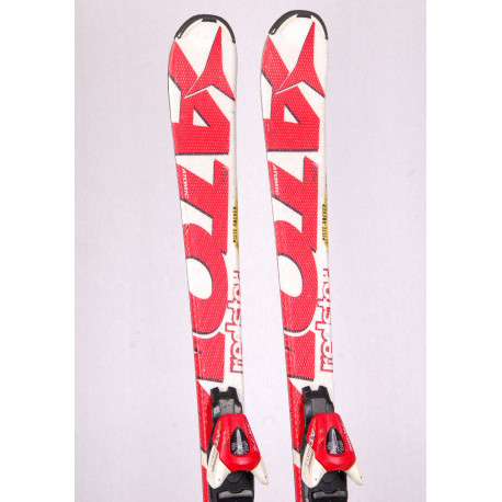 children's/junior skis ATOMIC REDSTER, WHITE, piste rocker, handmade + Atomic XTE 7 red/white