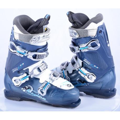 botas esquí mujer NORDICA TRANSFIRE R3R W, Blue/white, antibacterial, comfort fit, canting ( condición TOP )