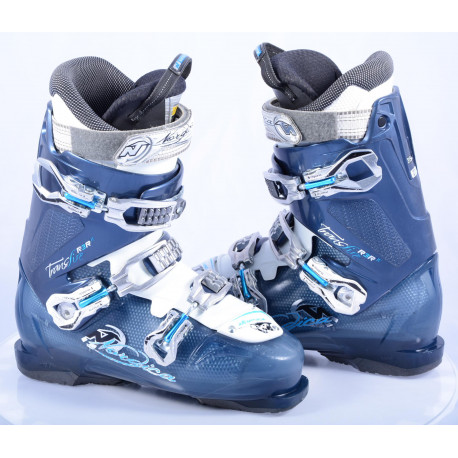 women's ski boots NORDICA TRANSFIRE R3R W, Blue/white, antibacterial, comfort fit, canting ( TOP condition )