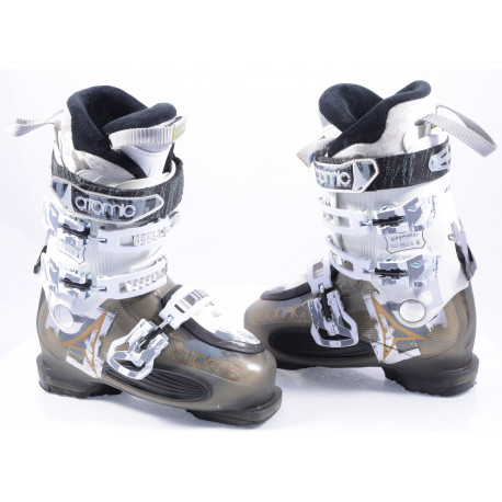 botas esquí mujer ATOMIC WAYMAKER 80 plus, SKI/WALK, anatomic medium fit, comfort, transp black/white
