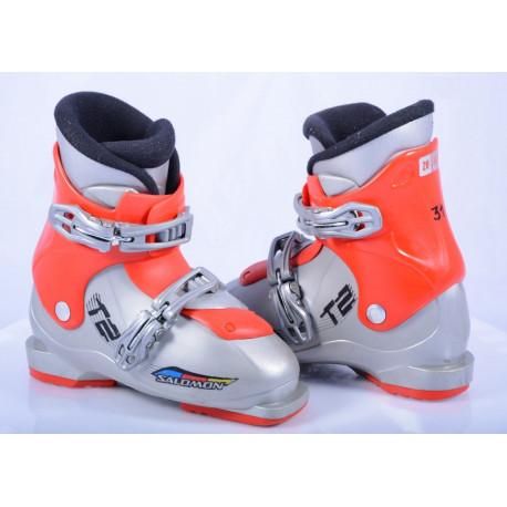 children's/junior ski boots SALOMON T2 grey/red ( TOP condition )