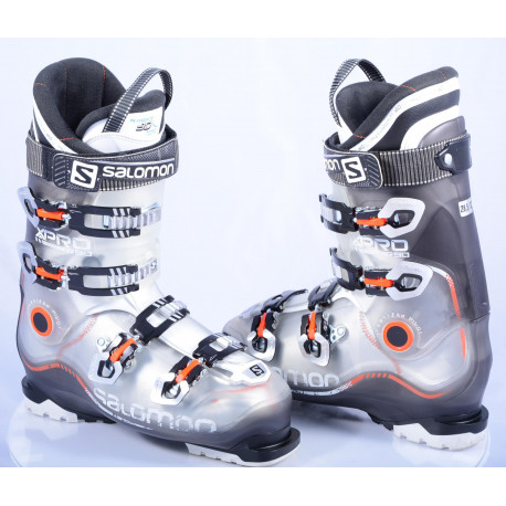 botas esquí SALOMON X PRO R90, Transp/orange, Oversized pivot, My custom fit 3D, micro, macro ( condición TOP )